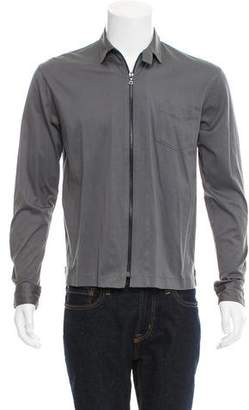 Paul Smith Knit Zip-Front Shirt Jacket