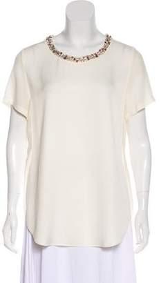 3.1 Phillip Lim Embellished Short Sleeve Blouse