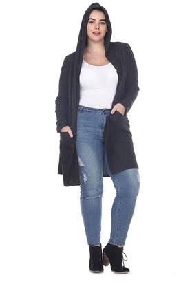 WHITE MARK White Mark Womens Long Sleeve Open Front Cardigan-Plus