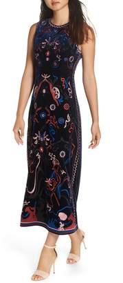 Foxiedox Fuji Embroidered Tea Length Dress