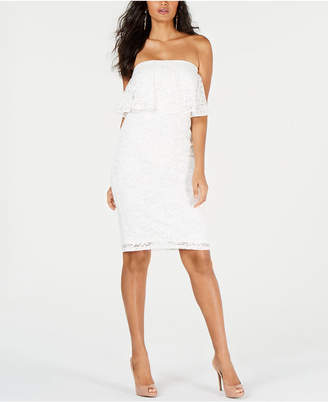Thalia Sodi Strapless Lace Dress