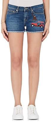 Mira Mikati Women's Rainforest-Embroidered Denim Shorts