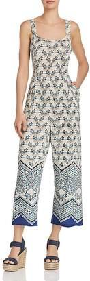 Aqua Floral Print Wide-Leg Jumpsuit - 100% Exclusive