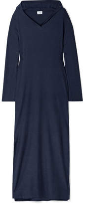 Pour Les Femmes - Hooded Terry Maxi Dress - Navy