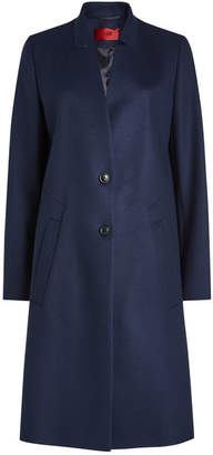 HUGO Magrete Virgin Wool Coat