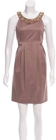 Burberry Burberry Jewel-Embellished Sheath Dress