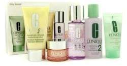 Clinique Daily Essentials Set ( Dry Combination Skin ): Clarifying Lotion 2 + Makeup Remover + Ddml + Facial Soap + Eyes 78c0 -5pcs