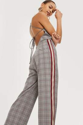 Topshop Checked Jumpsuit