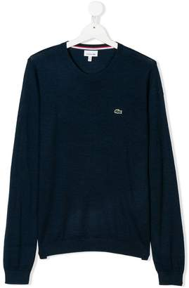 Lacoste Kids logo patch sweater