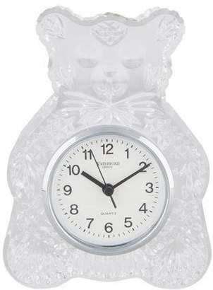 Waterford Crystal Teddy Bear Clock