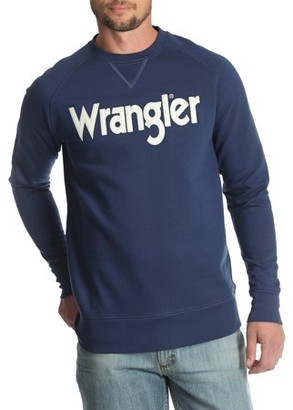 Wrangler Men's and Big & Tall Crew Neck Sweatshirt, up to Size 5XL