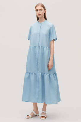 Cos SHORT-SLEEVED GATHERED DRESS