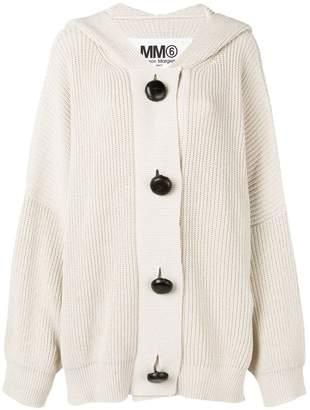 MM6 MAISON MARGIELA oversized hooded cardigan