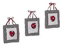 JoJo Designs Red and White Ladybug Polka Dot Wall Hanging Accessories by Sweet