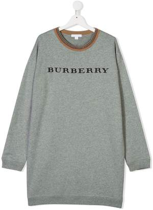 Burberry TEEN embroidered logo sweater dress