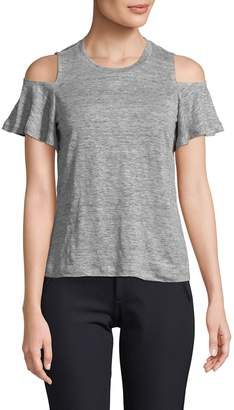 Rebecca Taylor Women's Cold-Shoulder Jersey Tee