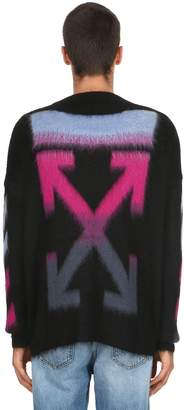 Off-White Off White Oversized Arrows Mohair Blend Sweater