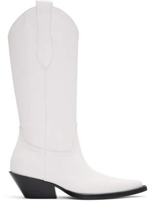 Maison Margiela White Tall Cowboy Boots