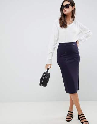 Asos (エイソス) - ASOS DESIGN double breasted ponte pencil skirt