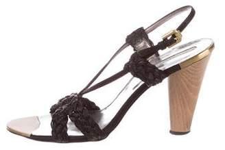 Stella McCartney Woven Slingback Sandals