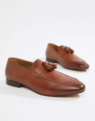 6fd7dc8f28c H By Hudson Bolton tassel loafers in tan leather