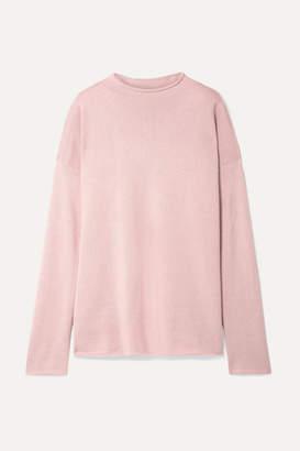 Mansur Gavriel Oversized Alpaca And Silk-blend Sweater - Blush