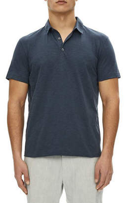 Theory Willem Cosmos Open-Collar Jersey Polo Shirt