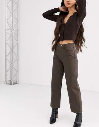 And other stories & straight leg jeans in dark brown