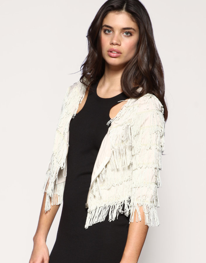 Rare Fringe Crop Jacket