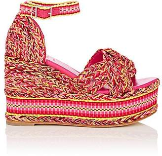 ANTOLINA Women's Amparo Cotton Platform-Wedge Sandals - Pink