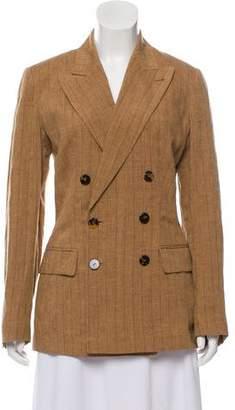 Jean Paul Gaultier Classique Linen Double-Breasted Coat