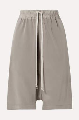 Rick Owens Silk Shorts - Gray