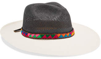 Sensi Studio - Jacquard-trimmed Two-tone Toquilla Straw Panama Hat - White