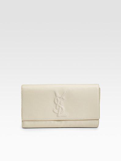 Yves Saint Laurent Belle De Jour Large Leather Clutch