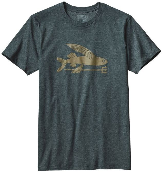 Patagonia Men's Flying Fish Cotton/Poly T-Shirt