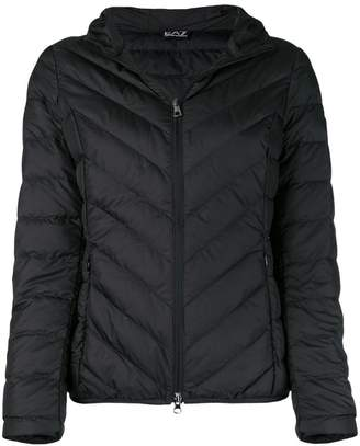 Emporio Armani Ea7 basic zipped puffer jacket