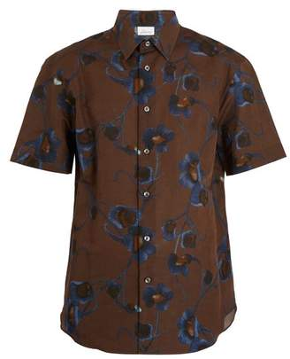 Brioni - Single Cuff Floral Print Linen Shirt - Mens - Multi