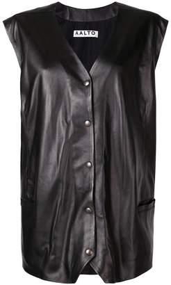 Aalto sleeveless leather jacket