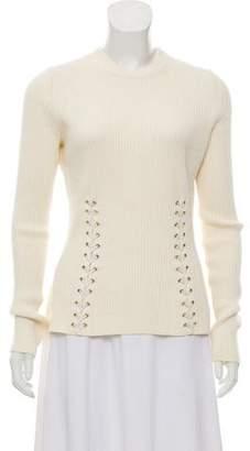 Alexander McQueen Rib Knit Long Sleeve Sweater