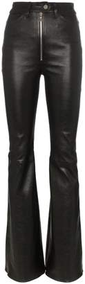 Sprwmn high-waisted flared leather trousers