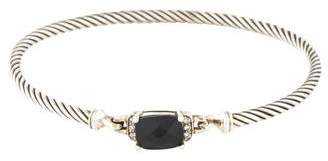 David Yurman Onyx & Diamond Petite Wheaton Bracelet