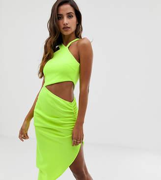 Asos Design DESIGN asymmetric cut out midi dress