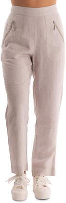 Zip Pockets Linen Pant