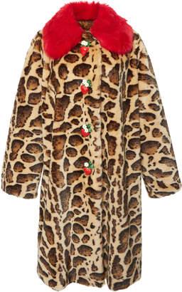 Dolce & Gabbana Animal-Print Faux Fur Coat