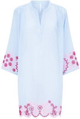 Seafolly Striped Broderie Beach Dress