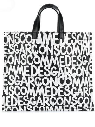 Comme des Garcons logo print shopper tote