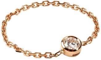 Redline Yellow Gold Diamond Chain Ring