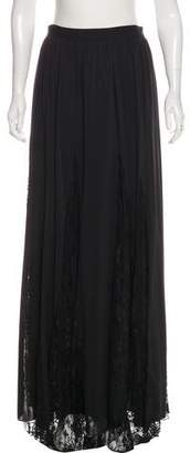 Alice + Olivia Lace-Accented Maxi Skirt