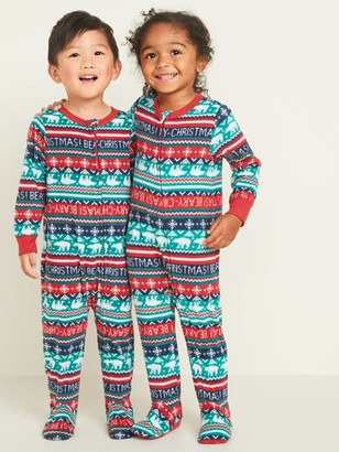Old Navy Micro Performance Fleece Fair Isle Footie Pajama One-Piece for Toddler & Baby