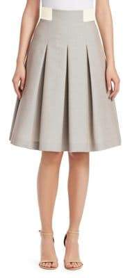 Akris Punto Pleated Knee-Length Skirt